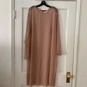 Sheer long sleeve dress